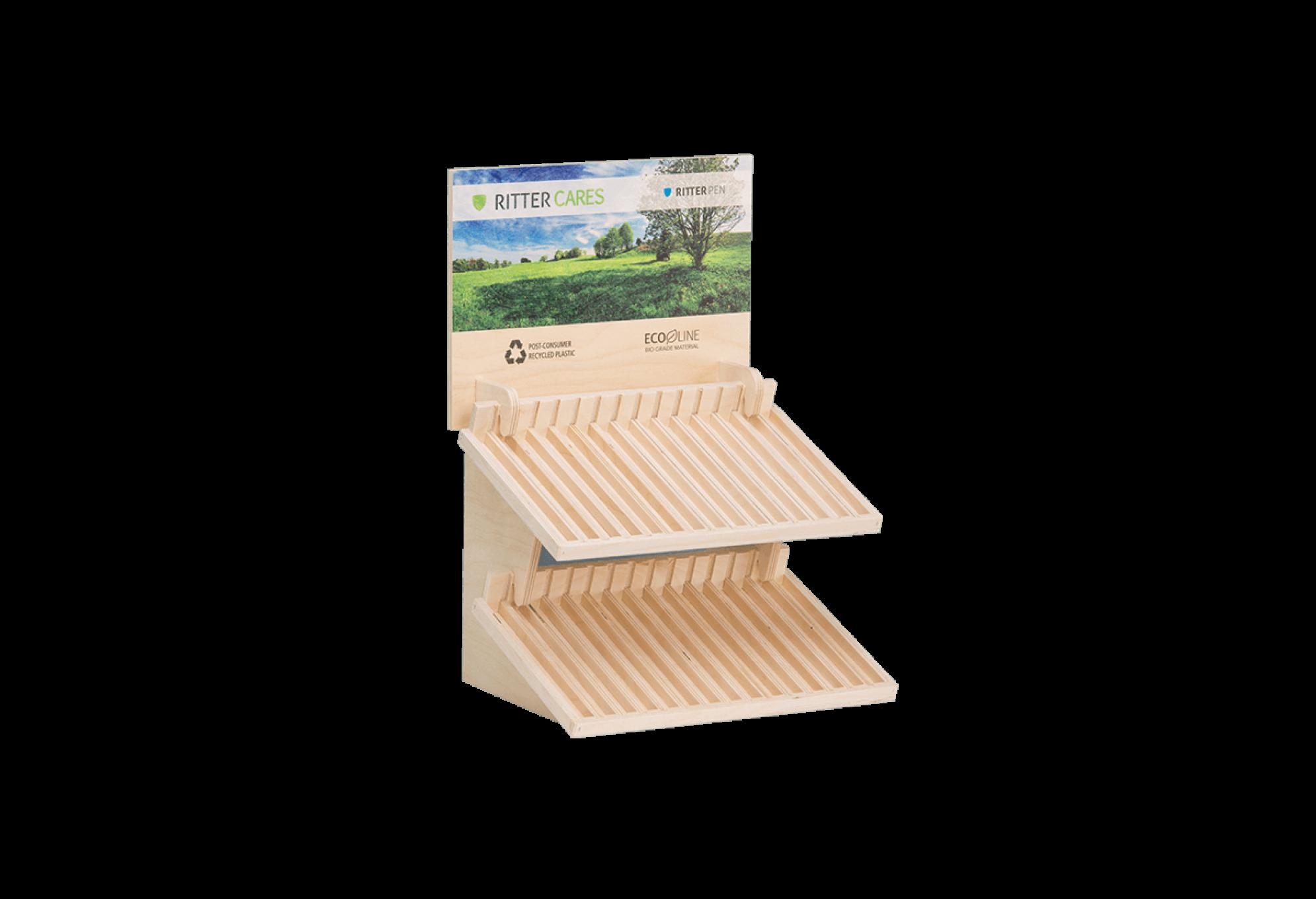 Holzdisplays verkaufsdisplays info displays aus holz