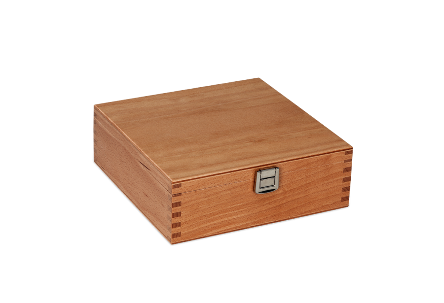 lacquered wooden toolbox