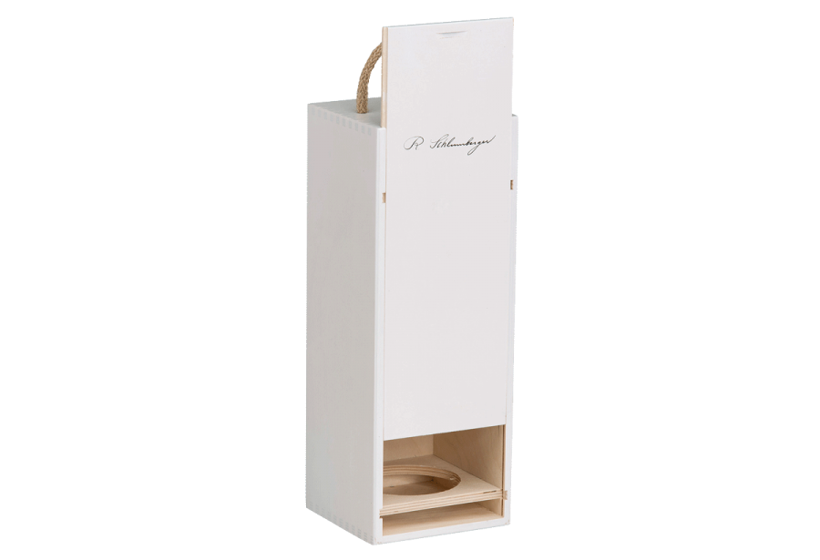 white exclusive wine champagne box with sliding lid